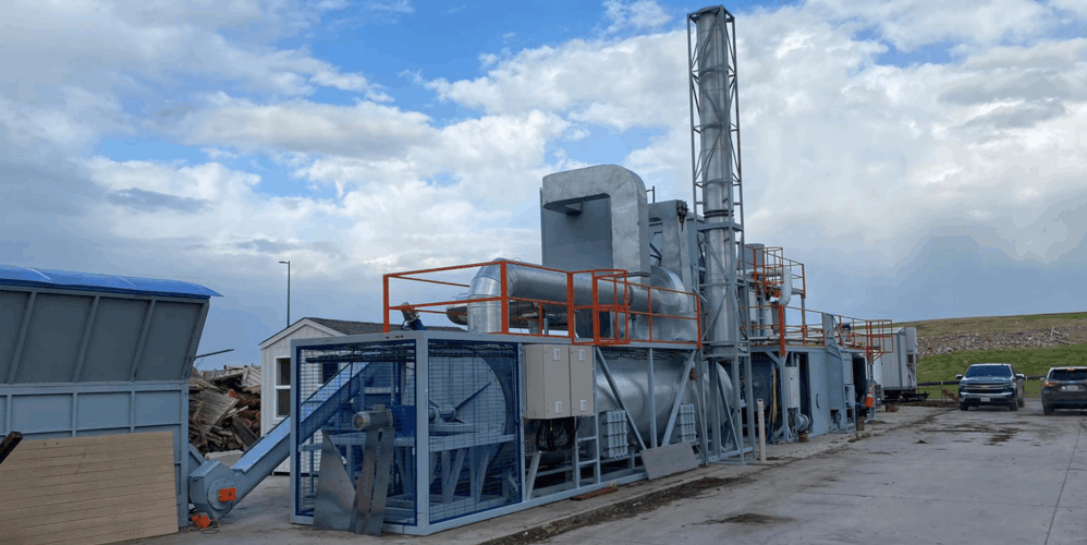 Ablative Fast Pyrolysis Plant Side view modular structure